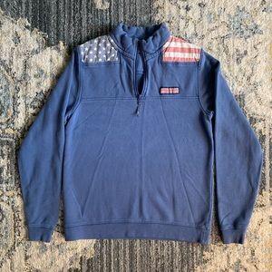 Unique boys American flag shep shirt